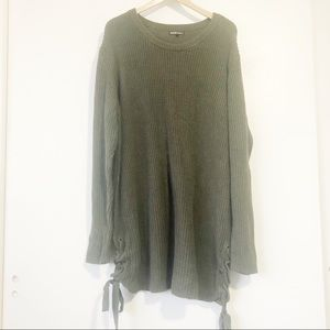 Charlotte Russe Green Tunic Sweater Sz 3X